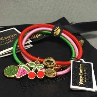 Juicy Couture Sample hair band set ponies Bracelet 水果頭飾可做手鍊