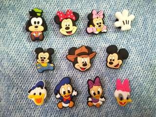 Jibbitz Inspired Crocs Charms: Mickey Mouse and Friends
