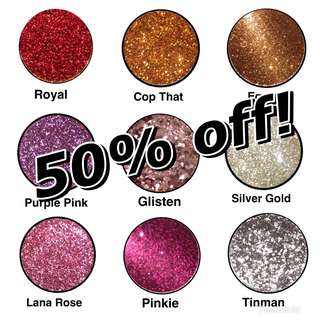 50% off all Pressed glitters!