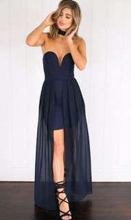 Mura Boutique Navy Maxi Dress
