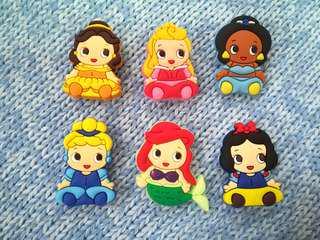 Jibbitz Inspired Crocs Charms: Disney Princess