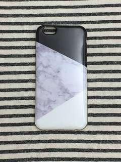 🏡清屋系列📮包平郵‼️iPhone 6/6S 4.7寸 全包邊軟殻 黑白雲石紋