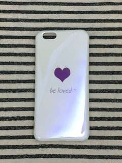 🏡清屋系列📮包平郵‼️iPhone 6/6S 4.7寸 全包邊軟殻 藍光底 BE LOVE iPhone case