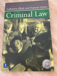 Criminal law by Catherine Elliot and Frances quinn