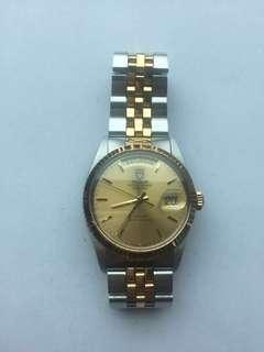 Tudor 男裝金銀帶錶