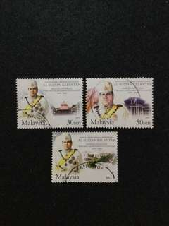 2004 Silver Jubilee Of The Reign Of Sultan Of Kelantan 3 Values Used Set