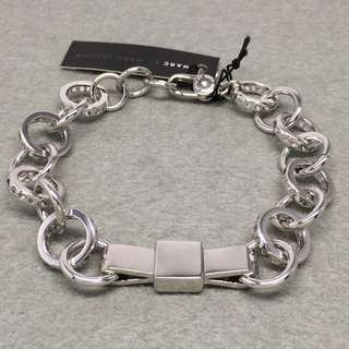Marc Jacobs Sample Bracelets 銀色蝴蝶結手鏈 全長21.5 cm