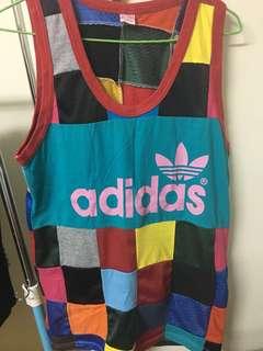 🚚 Adidas 拼貼球衣背心