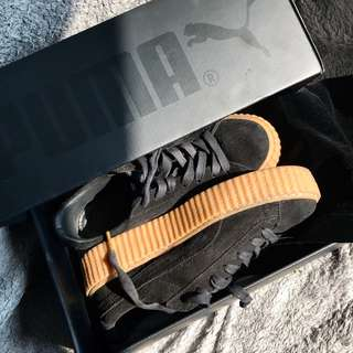 Puma Fenty Rihanna Black Gum sole creeper