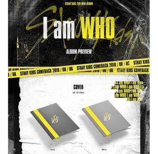 [Preorder] STRAY KIDS 2nd Mini Album - I am WHO (Random ver) CD + Poster