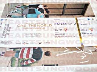 WANNA ONE WORLD TOUR : ONE THE WORLD IN KL TICKET
