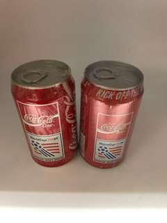 94世界盃紀念罐1對香港罐