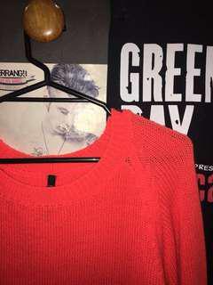 Coral/Orange Sweater