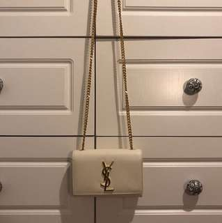 Saint Laurent Kate Monogrammed chain shoulder bag