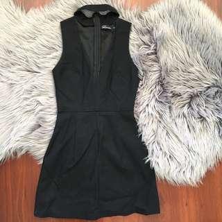 Luvalot Black Choker Mini Dress Size 6