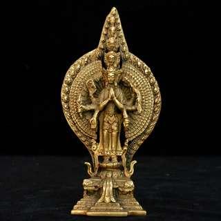 銅製  千手観音菩薩像  佛教美術品