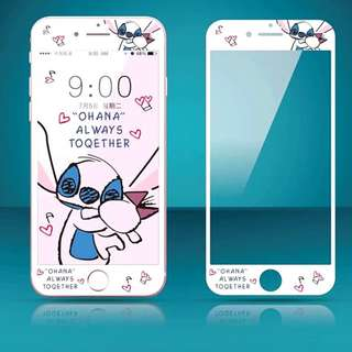 IPhone6/7/8/plus(沒有X) : 軟邊鋼化膜Stitch史廸仔