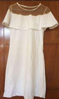 REPRICE! White cape dress