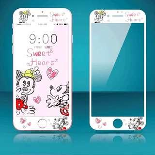 IPhone6/7/8/plus(沒有X) : 軟邊鋼化膜米奇米妮