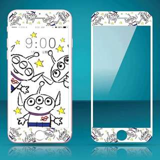 IPhone6/7/8/plus(沒有X) : 軟邊鋼化膜三眼仔