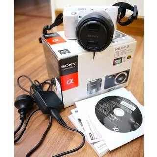 Sony NEX-F3 Camera (White)