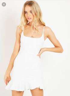 Luvalot White Mini Dress Size 6