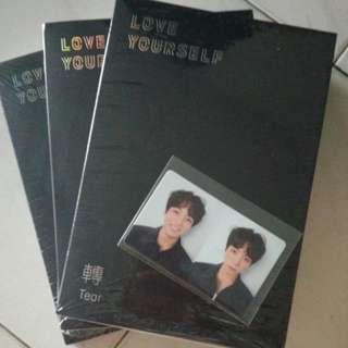 Unsealed R version Love Yourself Tear Album + Jungkook Photocard