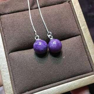 紫龍晶耳線
