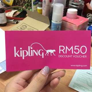 Kipling RM50 voucher