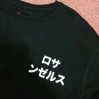 Cotton On Fleece Collection ロサンゼルス(Los Angeles) Fleece Black Sweatshirt Jumper