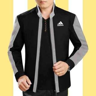 jaket adidas combo HA hitam abu