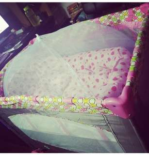 Preloved crib for baby girl. What you se is what you get.
