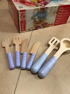 Hape 6 pc utensil set BN