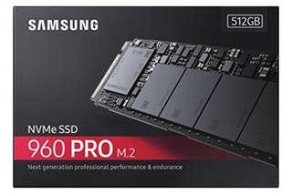 Samsung 960 Pro 512GB NVMe Drive