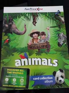NTUC Fair price Xtra Animal Cards