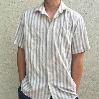 Striped Short Sleeves Polo