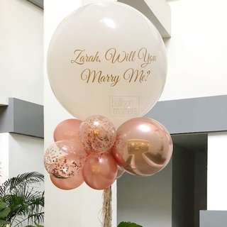 """🚚 [Helium Inflated] 36"""" Giant Balloon Bouquet"""