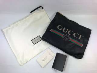 Preloved Gucci Authentic Leather Zip Pouch