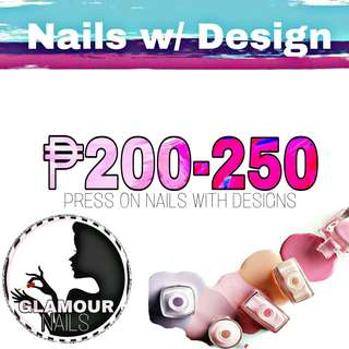Press On Nails with Design