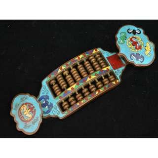 民間收集  銅製  五福臨門  福紋  如意算盤