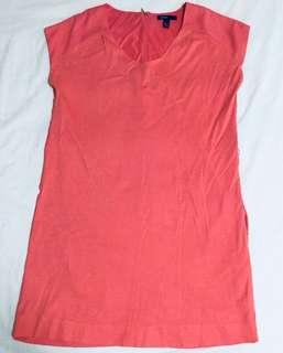 Mango dress peach with side pocket