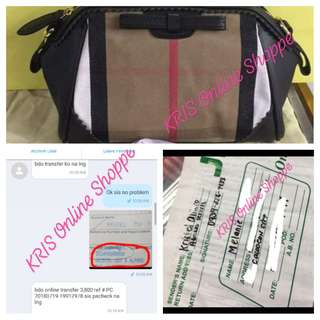 Proof of transaction - Burberry Bag