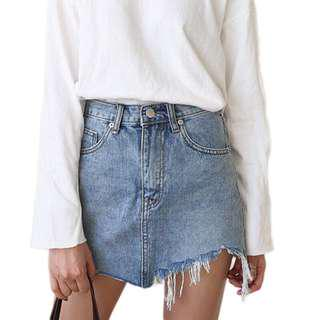 🚚 xiaozhainv RIPPED SKIRT