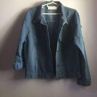 Ripped Denim Jacket