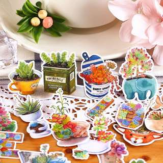 (Instock) Potted Plants Stickers