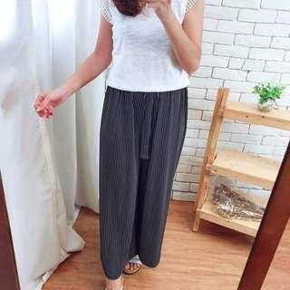 🚚 韓國♥直條紋造型寬褲