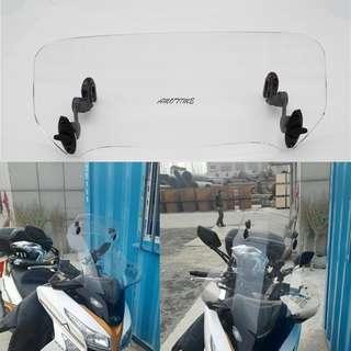 Extension windscreen windshield screen wind shield universal removable ajustable