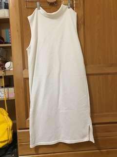 🚚 白色棉質無袖連身裙#女裝半價拉