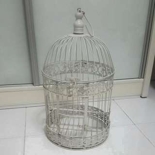 BN Vintage Decoration Bird Cage (White)
