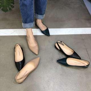 百搭尖頭平底鞋